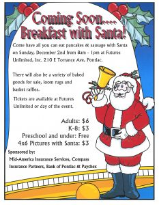 Breakfast with Santa 12/2/18 8am - 1pm